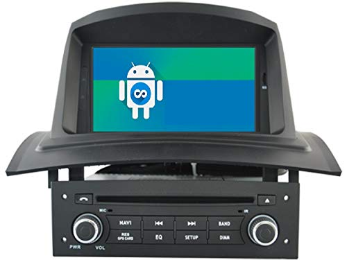 KASANDROID Android 10 Radio kasandroid es Compatible con Renault Megane II Quad Core 2GB RAM 16GB ROM GPS Coche DVD Auto Radio WiFi 3g 4g navi navegador Internet/Mirror Link/ 2005-2006 2007 2008 2009