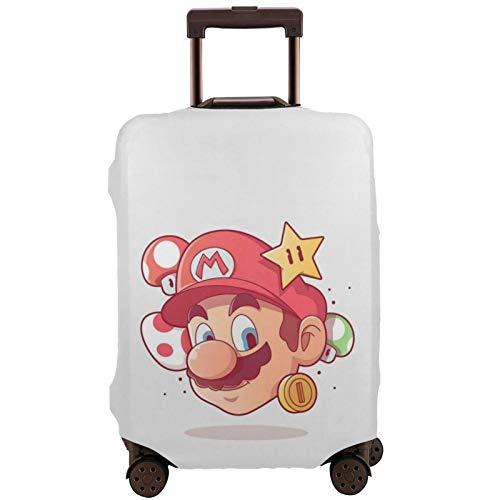 Mario Suitcase Funda protectora de banda elástica caja protectora antiarañazos, mangas elásticas gruesas son fáciles de limpiar, impresas con estilo y linda