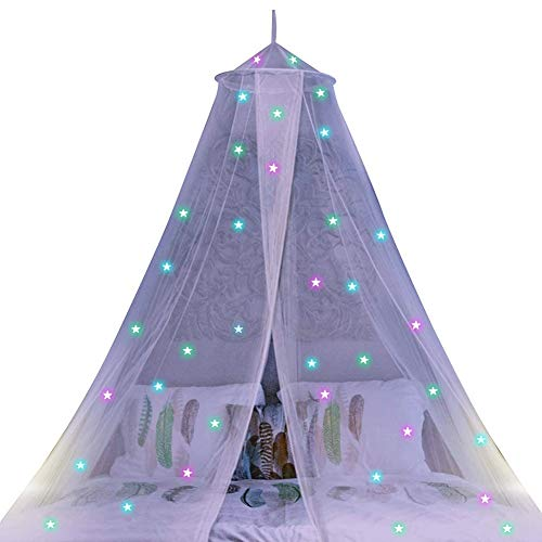 weichuang Mosquito net Children Hanging Kids Baby Bedding Dome Bed Canopy Cotton Mosquito Net Bedcover Curtain For Baby Kids Reading Playing Home Decor mosquito net (Color : White)
