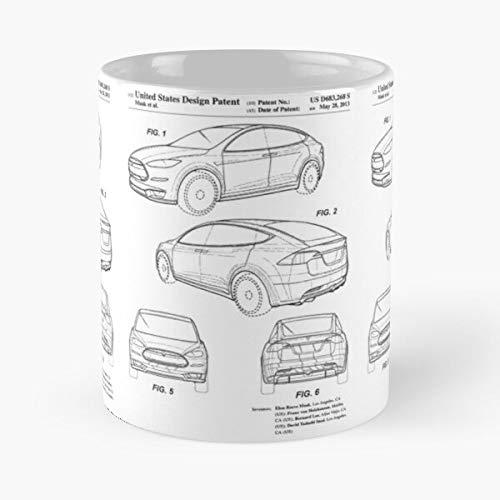 Lapuan Kankurit Tesla Collector Image Automobile Collection Patent Car Garage Motors La Mejor Taza de café de cerámica Blanca de 11 oz