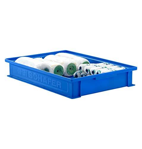 SSI SCHÄFER Stapelkasten 14/6-2F mit Griffmulde, Inhalt 8 Liter, Tragkraft 20 kg, Blau
