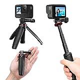 Ulanzi GoPro専用 自撮り棒 セルカ棒 3段伸縮 3way自撮り棒 +伸縮一脚+三脚 GoPro hero 9 8 7 6/GoPro MAX用 DJI OSMO ACTION/OSMO POCKET用 アクションカメラ vlog アクセサリー