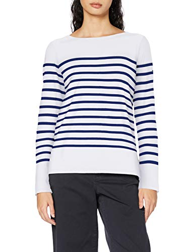 Scotch & Soda Maison Womens Classic Engineered Breton Tee T-Shirt, Combo A-0217, L