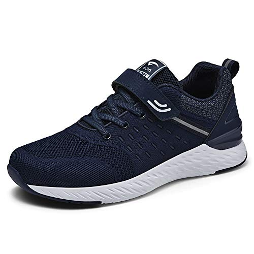 ZHShiny New Breathable Middle-Aged Men's Walking Shoes Women's Sports Sneakers Couple Shoes Casual&Running Air Cushion Breathable Shoes Navy