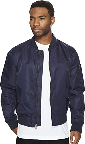 Levi's Men's Flight Satin Unfilled Ma-1 Bomber, Navy, Medium
