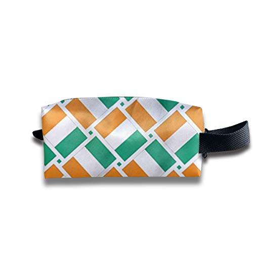 Fahne D Elfenbeinküste, Fahne Lvoire Kosmetiktaschen Organizer Tragbare Tasche Trapezförmige Aufbewahrung Kosmetiktasche