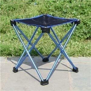 Silla plegable de campamento de aleación de aluminio de banco de heces de silla de playa Sillas de jardín portátiles for la pesca Los días de campo caminando al aire libre de senderismo Jardín deporte