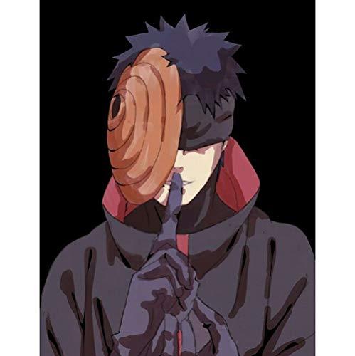 QTRT Naruto Serie Schwarzer Hintergrund Uchiha Obito Holzpuzzle, 1000pcs Anime-Karikatur 3D DIY Puzzles, Dekomprimierung Lernspiel-Spaß-Spielzeug-Geschenk for Familie Freunde Anime-Fan