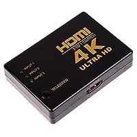 SODIAL HDMI 3Dスイッチ (2.0バージョン) HDTV 1080pの為 3 * 1 HDMIスイッチ