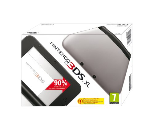 Nintendo 3DS - Consola XL, Color Negro Y Plata