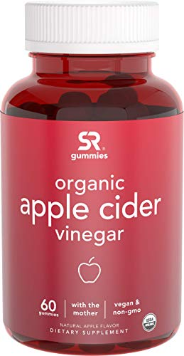 New! Organic Apple Cider Vinegar Gummies with The Mother | Non-GMO Verified, Vegan Certified (60 Vegan Gummies)