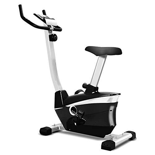 Bicicleta estática, elíptica máquina de fitness, simple panel de operación, de 8 velocidades ajuste de la resistencia, antideslizante Reposapiés, Mute, magnetrón bicicleta de spinning, cubierta,Negro