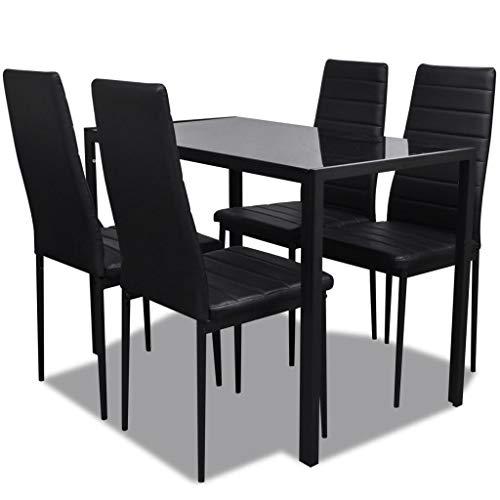 vidaXL Essgruppe 5tlg. Esstisch Set Sitzgruppe Esszimmer Esstischset Stühle