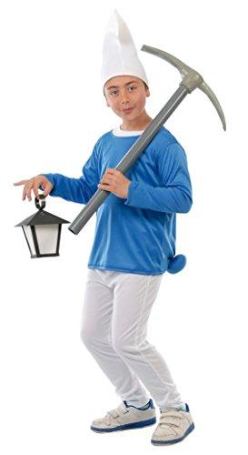 Guirca- Costume da Puffo per Bambini, 5-6 anni, 81554