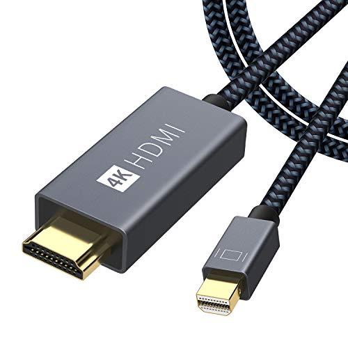 iVANKY Mini DisplayPort auf HDMI Kabel, 4K@60Hz Nylon Thunderbolt auf HDMI Kabel, geeignet für MacBook Air/Pro, Surface Pro, Monitor, Projektor und weiter - 2M