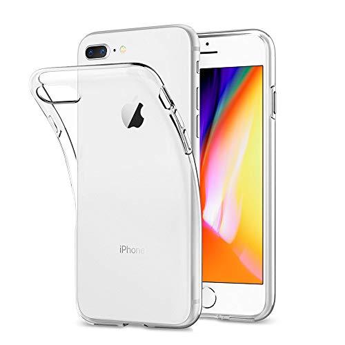 DOSMUNG Hülle kompatibel mit iPhone 8 Plus iPhone 7 Plus, Transparent Handyhülle für iPhone 8 Plus/iPhone 7 Plus Schutzhülle, HD Anti-Kratz Rückseite Backcover TPU Case für iPhone 8 Plus / 7 Plus