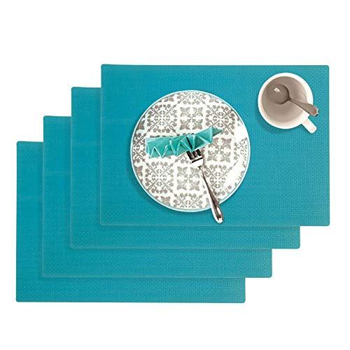 Westmark Tischsets/Platzsets, 4 Stück, 45 x 32,5 cm, Polypropylen, Lebensmittelecht, Abwischbar, Türkis, Saleen Edition: Coolorista