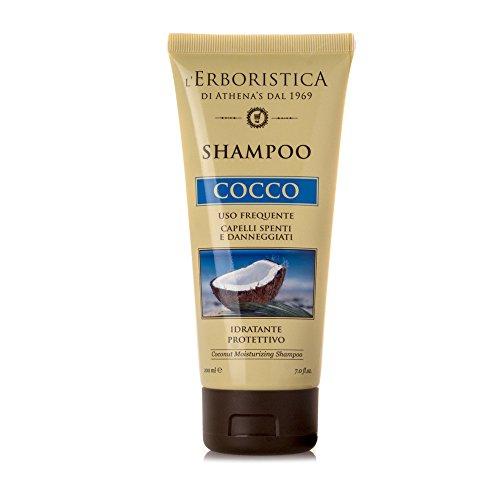 De Erboristica van athena' S vanaf 1970 Kokos Shampoo vochtinbrengend veiligheidsglas - 250 gram