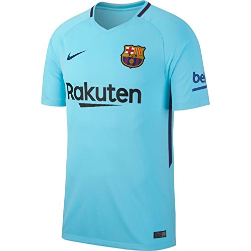 Nike 2017/18 FC Barcelona Stadium Away Camiseta de Manga Corta, Hombre, Azul (Polarized Blue/Deep Royal Blue), M