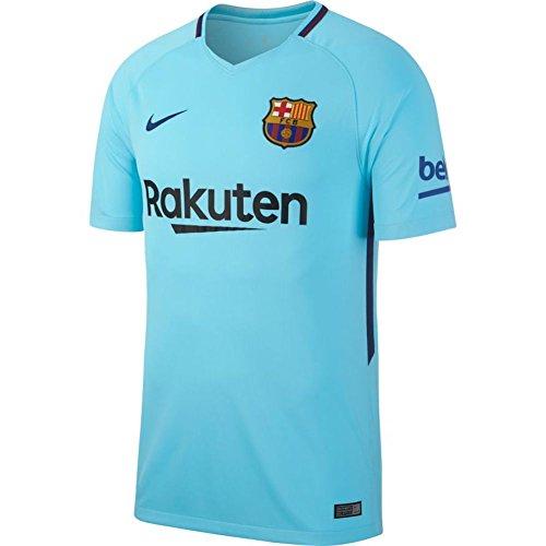 Nike 2017/18 FC Barcelona Stadium Away Camiseta de Manga Corta, Hombre, Azul...