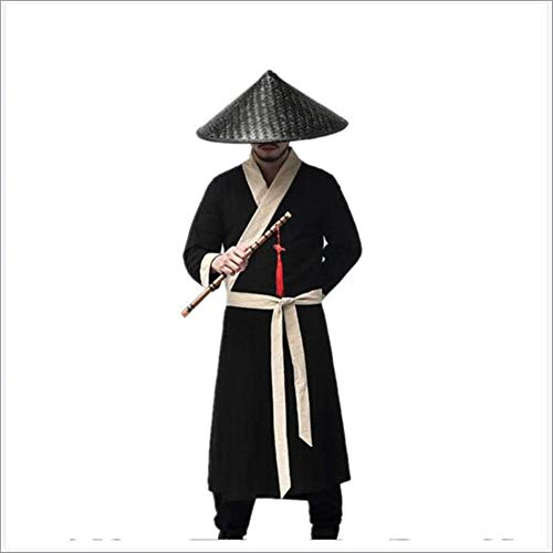 JINPENGRAN Disfraz de Traje de Caballero de Hanfu Hombre,XXXL