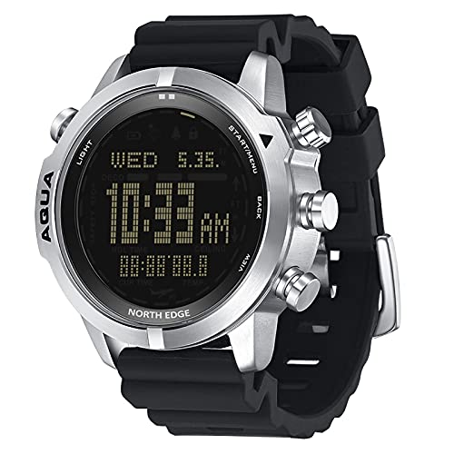 Yajun Reloj para Ordenador de Buceo para Hombre Impermeable 100 M Reloj Inteligente para Submarinismo Altímetro Digital Barómetro Reloj de Temperatura
