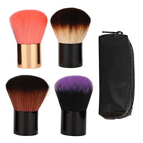Zwindy Pinceau de Maquillage, 4Pcs Cosmetic Brush Loose Powder Blush Powder Brush for Makeup Beginners and Professional Makeup Artist with Storage Bag, Easy to Carry and Use.