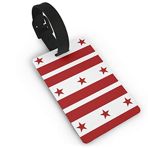 Airealy Luggage Tags & Bag Tags Flag of The District of Columbia PVC Suitcase Labels Travel Accessories