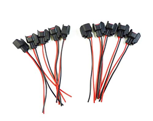 Diverse Alambres INYECTOR DE COMBUSTIBLE ESPIRAL CONECTORES PT2160 WPT-1051 robusto (Color : 10 pieces)