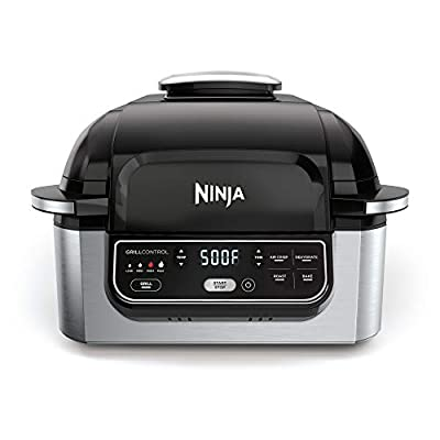 Ninja Foodi Pro 5-in-1 Integrated Smart Probe and Cyclonic Technology Indoor Grill
