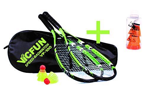 VICFUN Speed Badminton Set Speed Badminton 100 Set (Premium Variante)