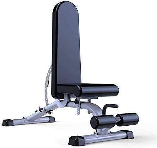 Cnley Banco de pesas multifuncional plegable ajustable 90° plano banco de pesas profesional, banco de ejercicio Marcy, banco de utilidad para vertical, inclinación, declinación y plano E