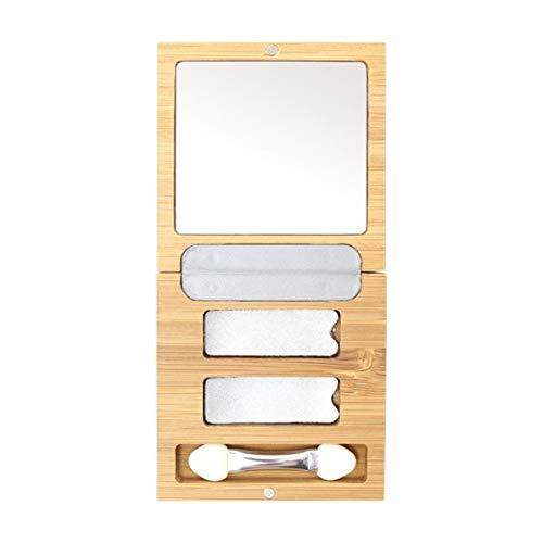 Zao Bamboo Box Duo (empty) Bambus Beautybox Duo (leer) Leerbox für Rechteckiger Lidschatten Refill...
