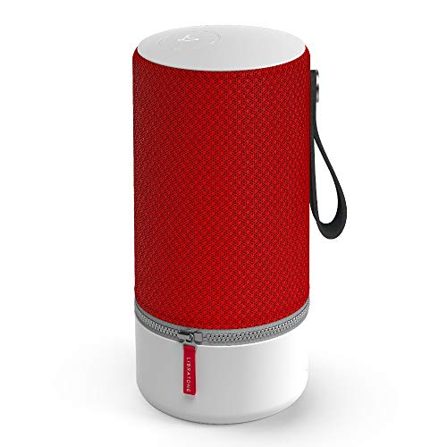 Libratone Zipp Wifi Bluetooth Smart Speaker, 360° Loud Stereo Sound with Dual Mic Build-in, 15W Woofer Deep Bass, 12 Hour Playtime, Airplay2 and Spotify connect, Work with Alexa(Victory Red)