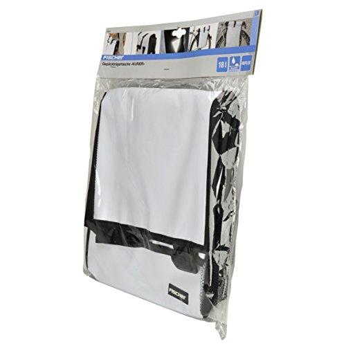 Fischer Gepäckträger Tasche, weiß, 55 x 13 x 25 cm, 18 Liter - 4