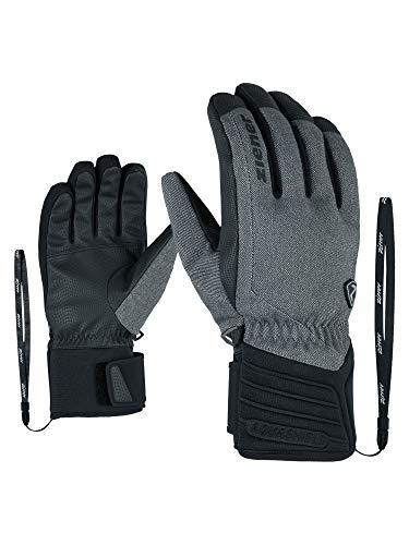 Ziener Erwachsene GRANY AS(R) Glove Alpine Ski-handschuhe, grey denim, 8 (M)