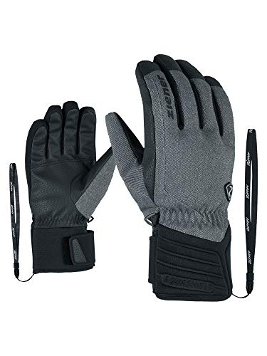 Ziener Erwachsene GRANY AS(R) Glove Alpine Ski-handschuhe, grey denim, 11 (2XL)