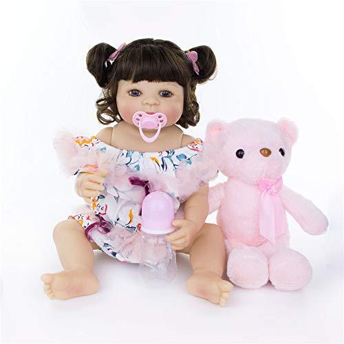 """GJQDDP Reborn bebé, Baby Doll Soft Silicone & Vinyl 22""""55 cm Reborn Baby Doll recién Nacido Realista Que Parece Real Muñecas recién Nacidas Imán Gratis Chupete"""