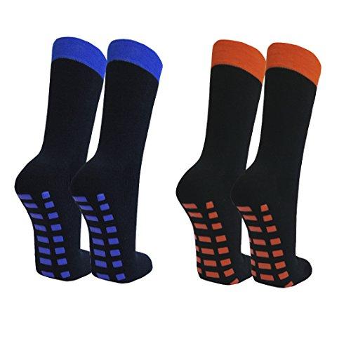 Qano 2 Paar Stoppersocken marine/blau orange 43-46