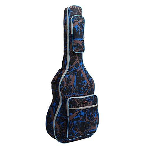 "Tebery - Funda para Guitarra acústica, Resistente al Agua (40""), diseño de Camuflaje, Color Azul"