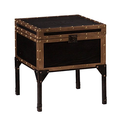 SEI Furniture Trunk End Table, Multicolor