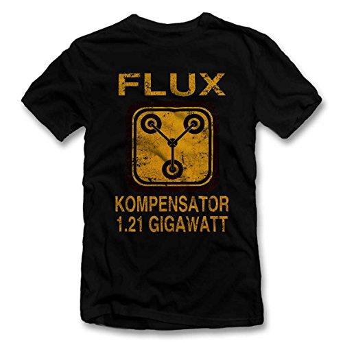 Flux Kompensator Zurueck In Die Zukunft T-Shirt schwarz-Black L