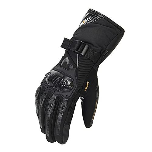 Guantes de Invierno para Motocicleta, Guantes Impermeables para Motocross, Guantes para Moto a Prueba de Viento, Guantes para Montar en Moto con Pantalla táctil-a31-M