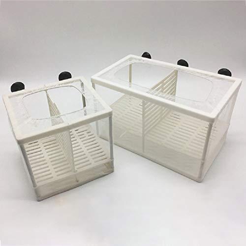 Xiangze Aquarium Fischzüchter Ablaichkasten Inkubator Trennung mit Saugnapf/Trennwand Weiß für Aquarium