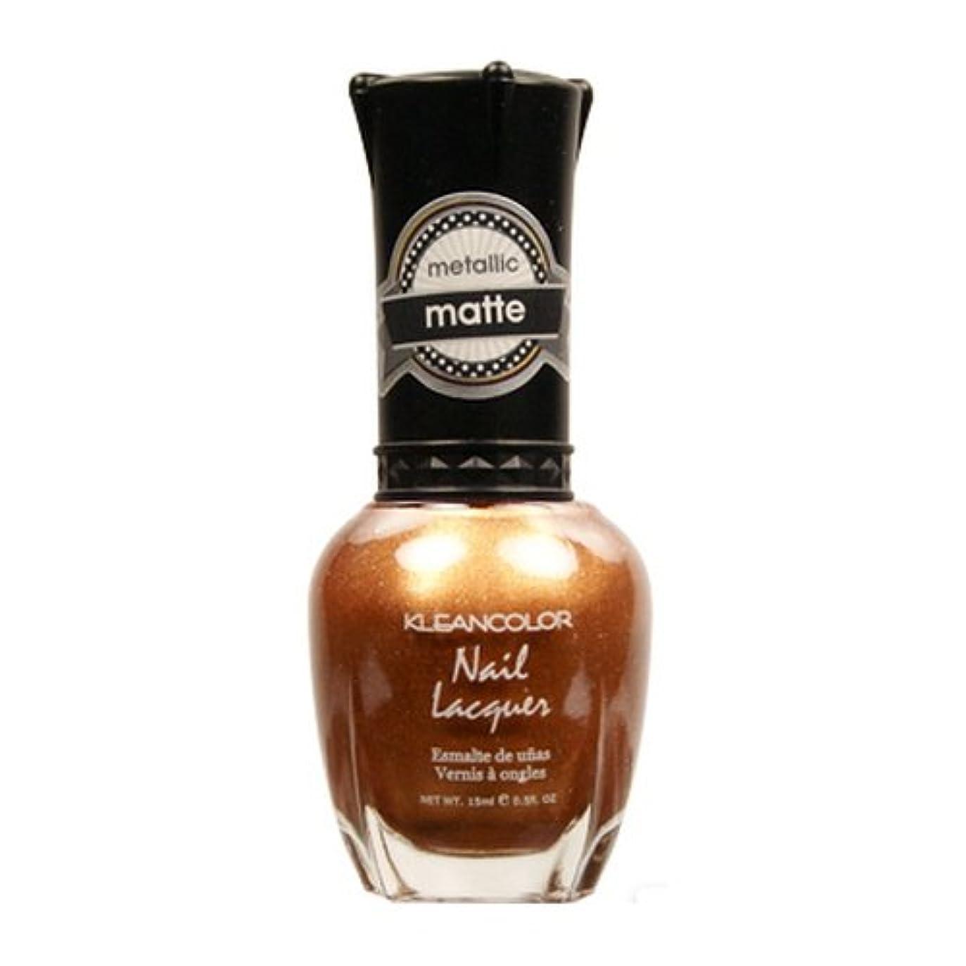 鹿捨てる放送(6 Pack) KLEANCOLOR Matte Nail Lacquer - Life in Gold Castle (並行輸入品)