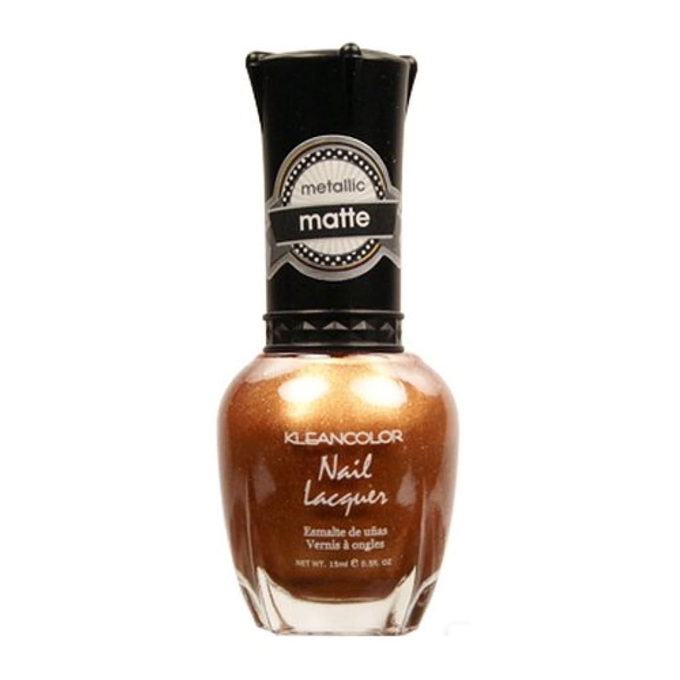 打ち上げる後退するしないでください(6 Pack) KLEANCOLOR Matte Nail Lacquer - Life in Gold Castle (並行輸入品)
