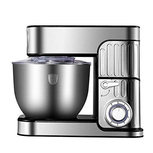 QWEASD Keukenmachine, basic keukenmachine, 1000 W vermogen, werkt met 6 + P-snelheid, 7 l roestvrij staal, geschikt voor het hele lichaam voor milkshakes, roeren en mengen
