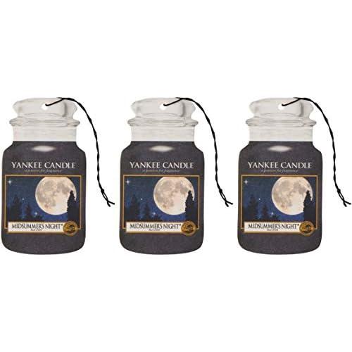 Yankee Candle 1114285E Deodoranti per Auto, Car Vaso Bonus Pacchetto di 3, Midsummers Night