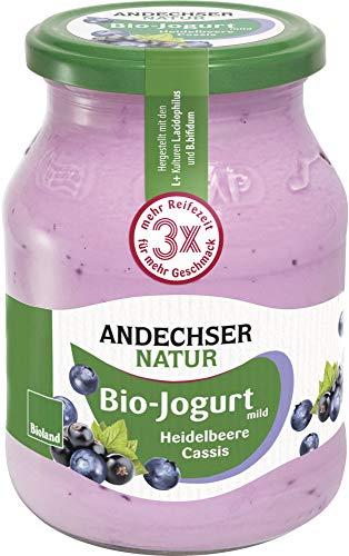 Andechser Natur Bio Bio Jogurt Heidelbeere-Cassis 3,7% (6 x 500 gr)