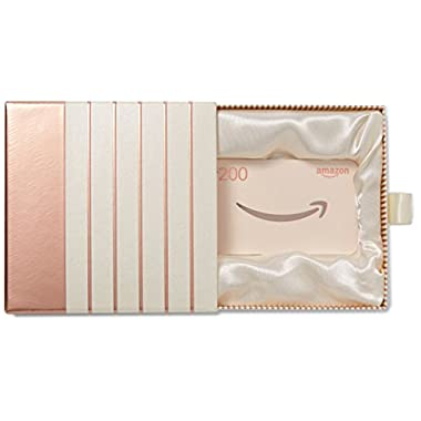 Amazon.com $200 Gift Card in a Premium Gift Box (Rose Gold)